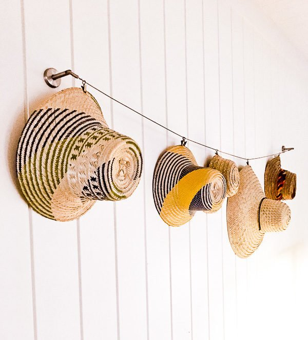 A clever way to display hats