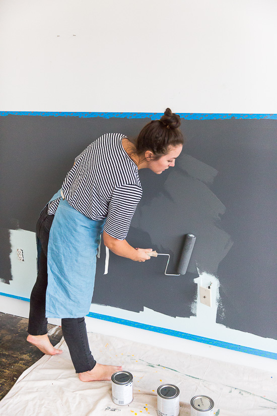 How to paint a high contrast half wall like a pro