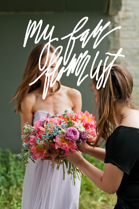 Brittni Mehlhoff of Paper & Stitch shares her go-to flower list for creating awesome bouquets every time.