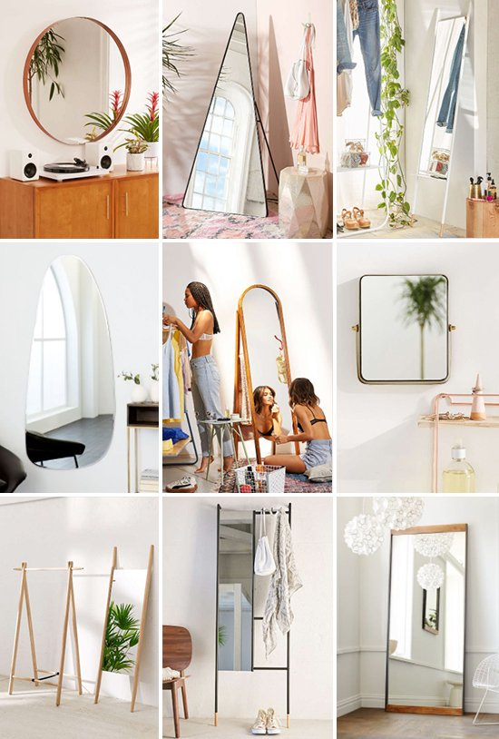 22 Cool Mirrors for Your Home! Click through for the full list (with links).