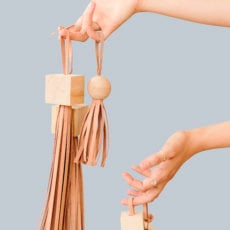 Block Head: How to Make DIY Statement Tassels with Wood Blocks and Leather