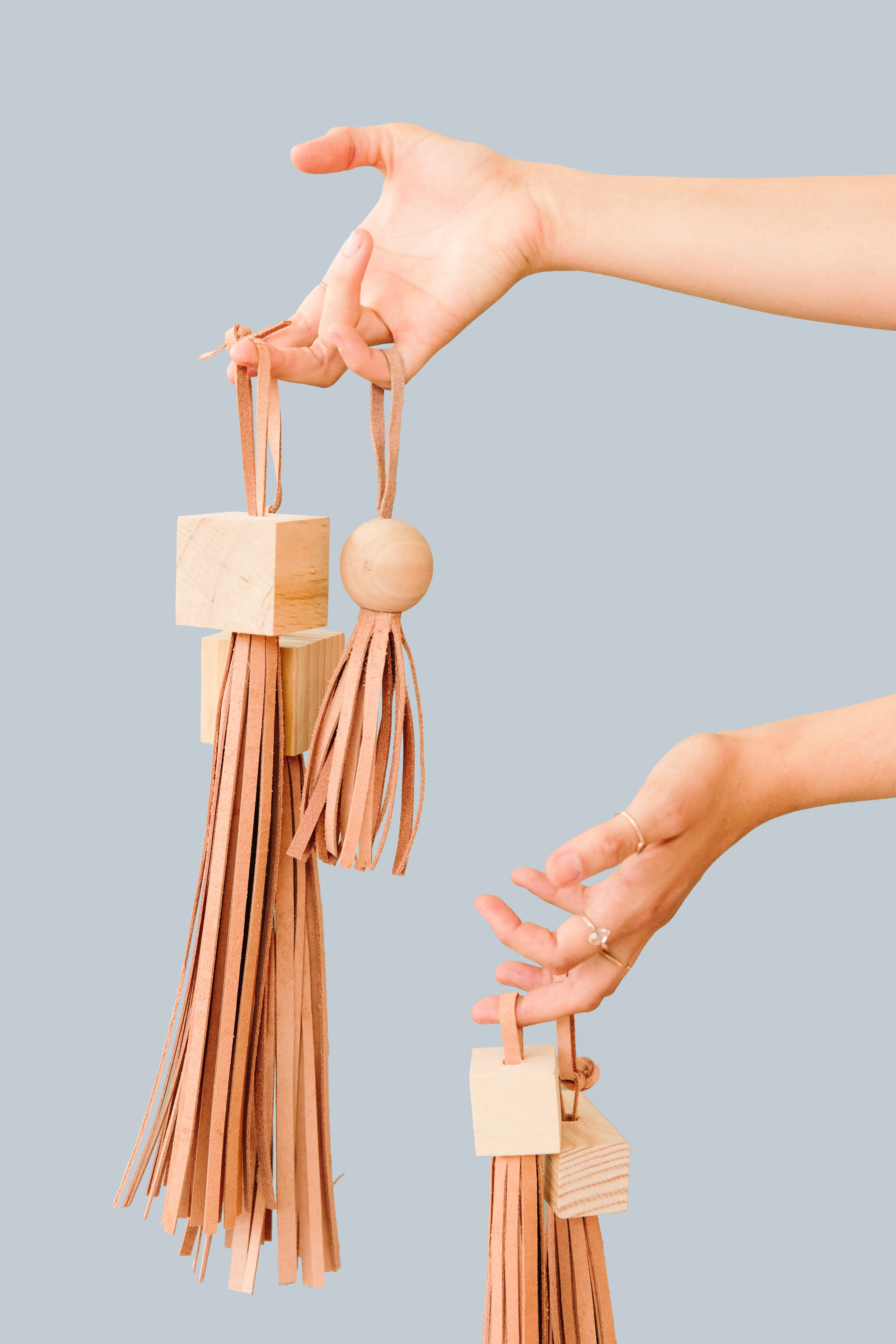 Block Head Diy Statement Tassels Made With Wood Blocks