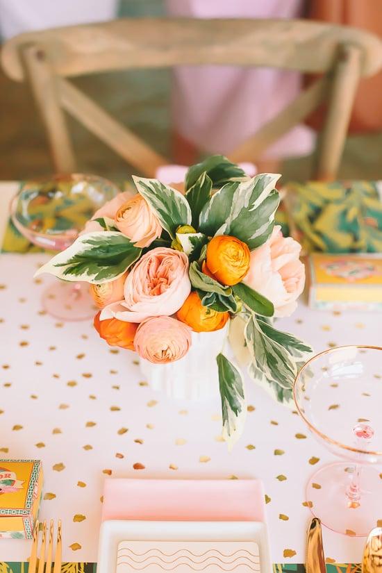 A peachy summer centerpiece