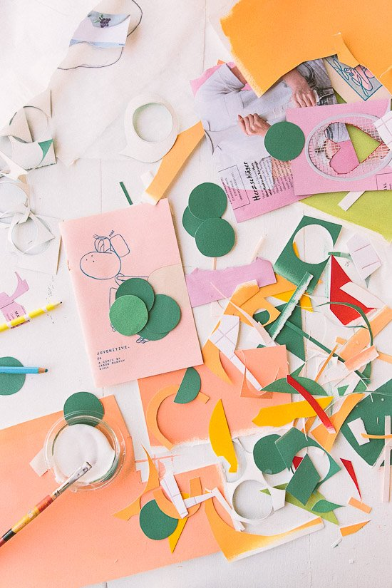 Colorful paper confetti for mixed media projects, etc.