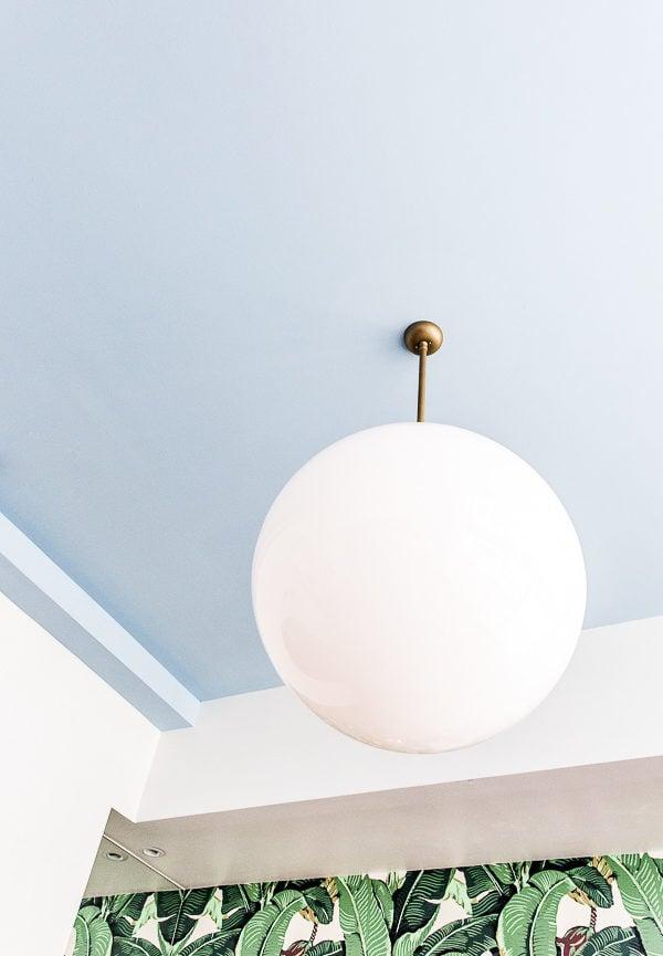 A pastel blue ceiling!