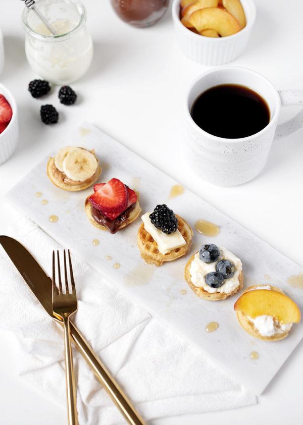 mini waffles for the win #miniwaffles #breakfastwaffles
