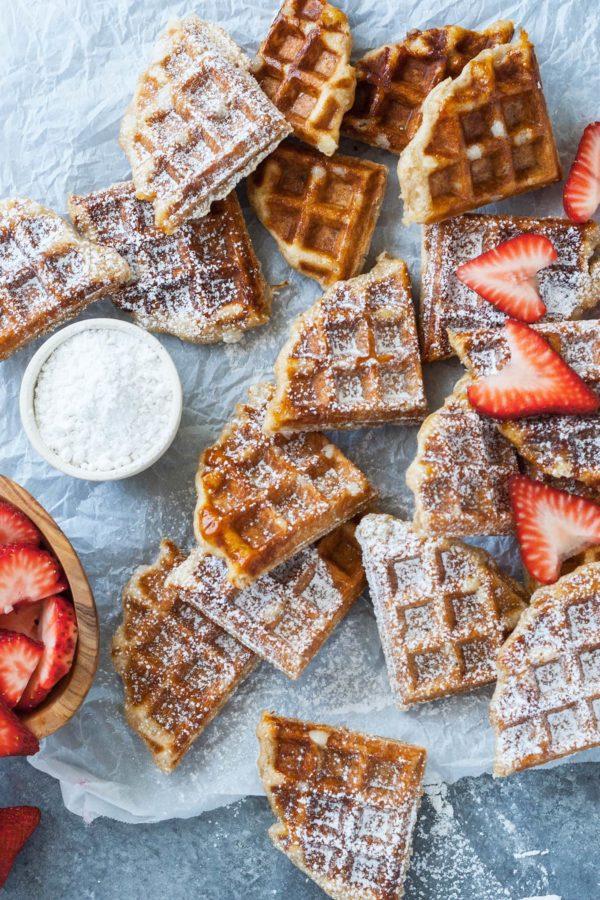 waffles with powdered sugar!