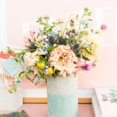 How to Add Color to Concrete + Make a Two-Toned Concrete Vase Using this Technique
