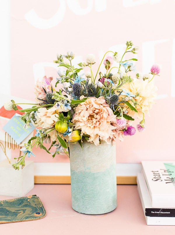 How to Add Color to Concrete + Make a Two-Toned Concrete Vase