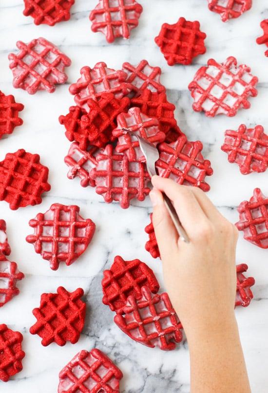 red velvet waffles recipe #redvelvet #wafflesrecipe