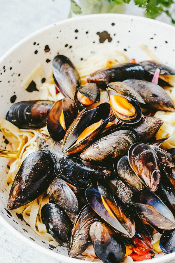 Mussels and pasta!