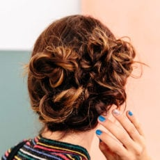 How to Hack You Way to an Easy Updo that Will Keep People Guessing (in 5 Minutes)