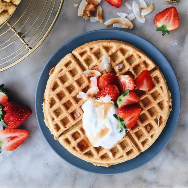 gluten-free vanilla coconut waffles