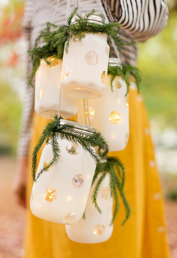 How to Make DIY Hanging Holiday Lanterns