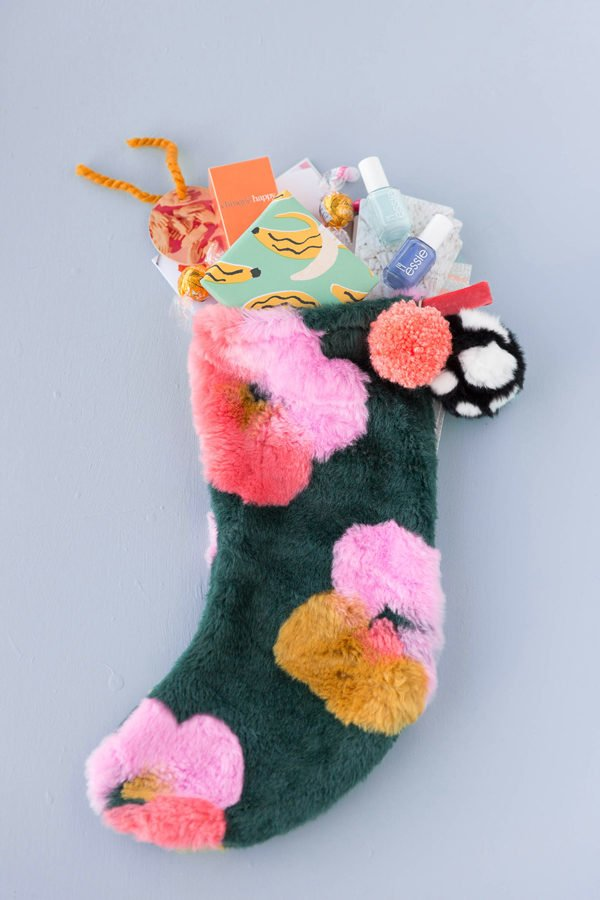 DIY holiday stocking tutorial and colorful stocking stuffers! #christmas #holiday #diy