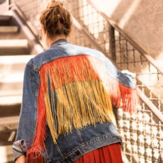 Fringe Benefits: A Fringe Jean Jacket DIY