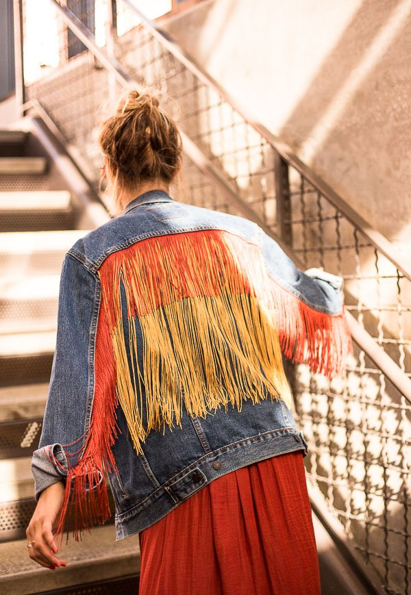 Fringe Benefits A Fringe Jean Jacket Diy Paper And Stitch