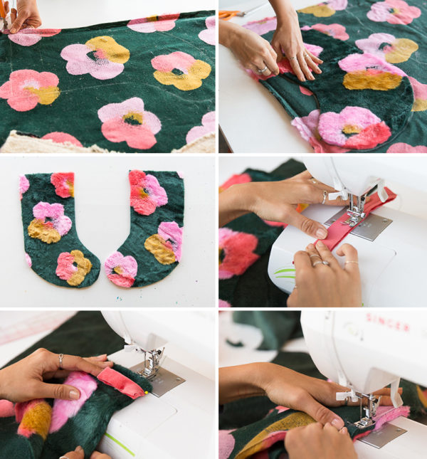 How to make DIY holiday stockings from an old blanket. #diy #holidays #christmas