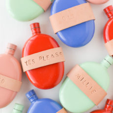 Drink Up! DIY Holiday Gift Idea: A Leather-Wrapped Flask DIY to Spread Holiday Cheer (and Alcohol)