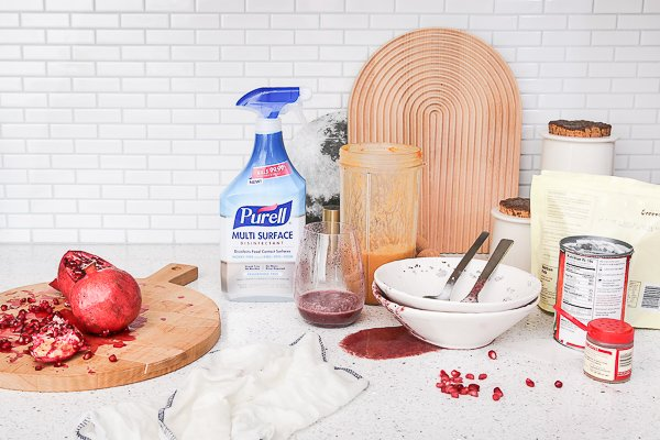 Morning smoothie recipes with PURELL and Paper & Stitch.