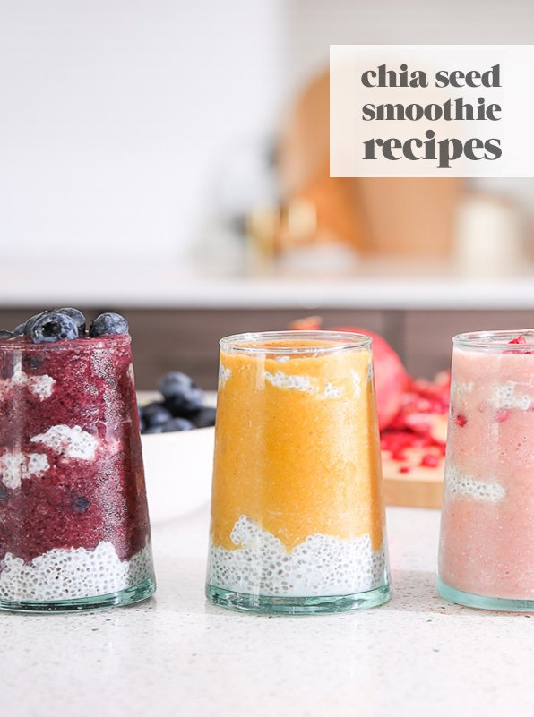 Ready to jumpstart your morning with a morning smoothie recipe? Try these three fall chia seed smoothie recipes from Paper & Stitch. #smoothie #recipe #chiaseed