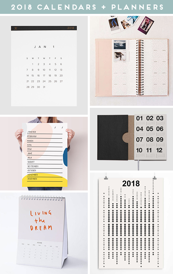 36 of the Coolest 2018 Calendars and Planners for Every Budget