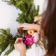 Kick in the Wreath: How to Make a Giant DIY Wreath (over 3 ft tall) for Less than $10