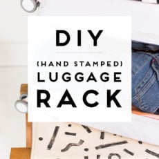 DIY Luggage Rack + How to Block Print on Fabric