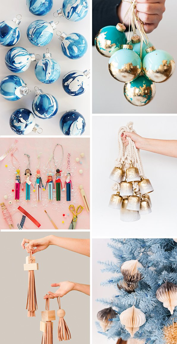 Modern DIY ornaments for the holidays