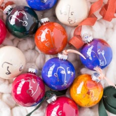 Crossing the Line: DIY Line Drawing Ornaments