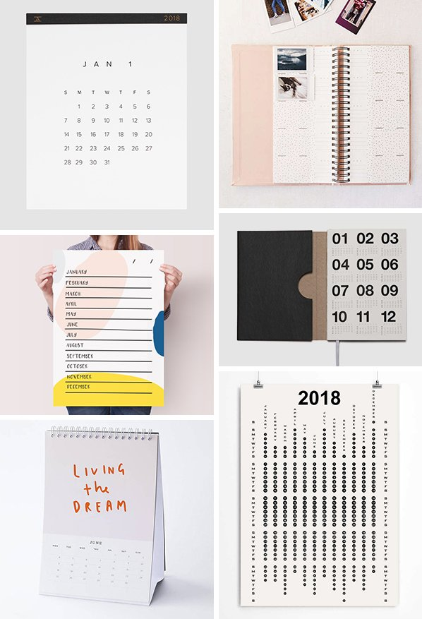 Coolest Picks for 2018 Calendars and Planners! Get ready for the new year with a clean slate AND a brand new calendar or planner. #calendar #planner #2018calendar #2018planner #holidaygifts #januarygift