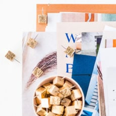 A New Style Guide + Gold Leaf DIY Thumbtacks