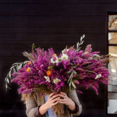 Surprise! A DIY Doorstep Flower Bomb Idea