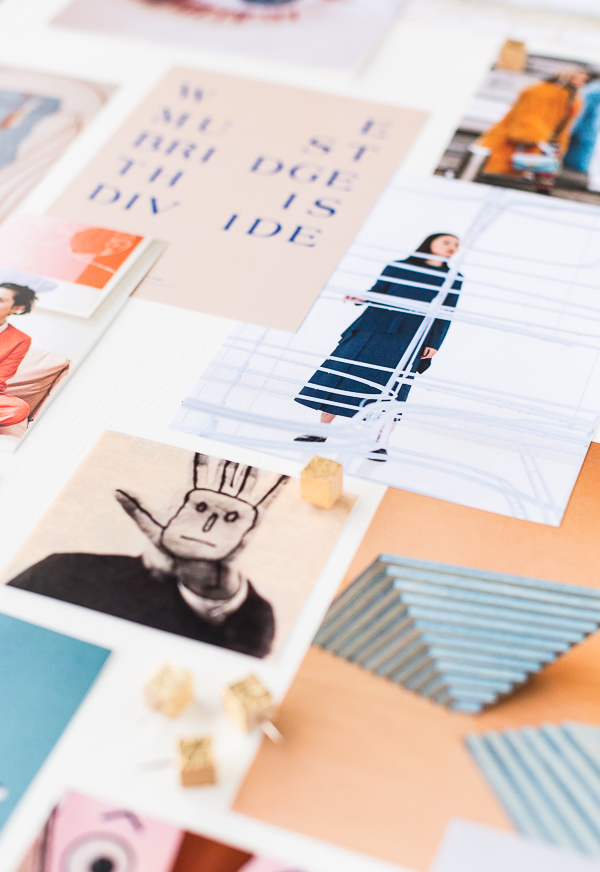 Style guide inspiration. Make a physical mood board to bring your Pinterest boards to life. #moodboard #styleguide #inspo