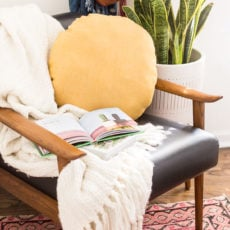 How to Make a DIY Circle Pillow for you Home