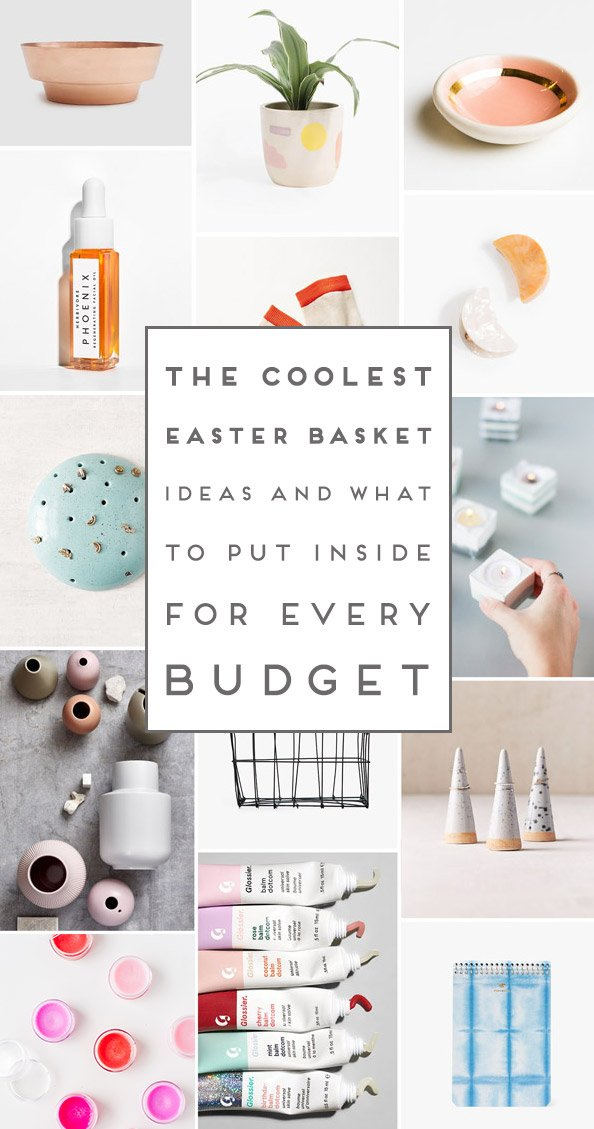 The coolest Easter basket ideas for every budget! Click through for all three budget options - complete with everything you need for the coolest Easter basket ever! #easter #easterbasket #easterbasketideas #eastergifts