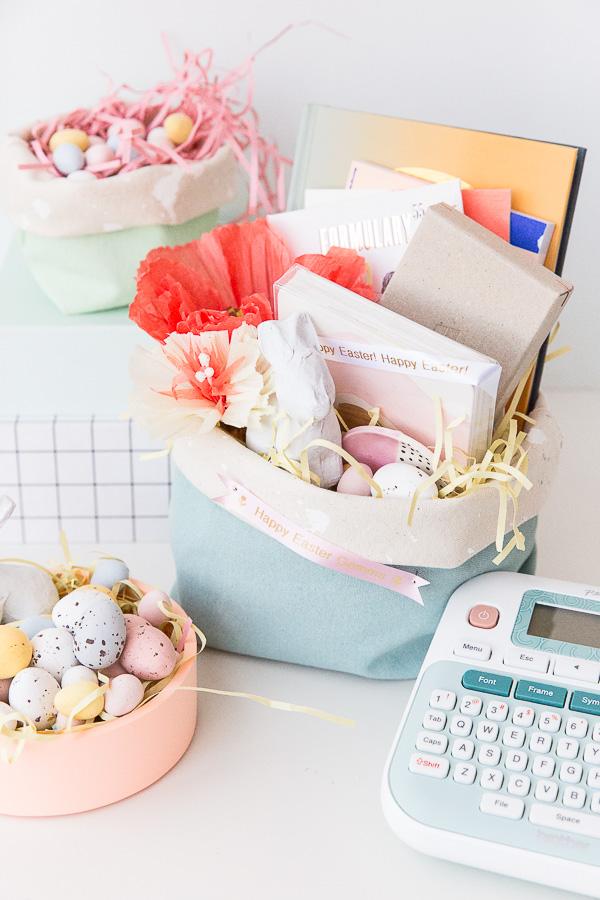 How to Make Your Own Easter Basket (in 15 Minutes). #easter #diy #tutorial #sewingproject #canvasbasket