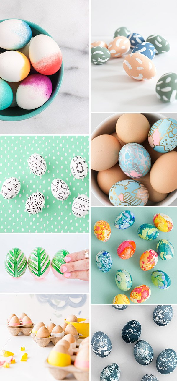 16 Unique DIY Easter Egg Ideas to Try Before Sunday #easter #eastereggs #diy