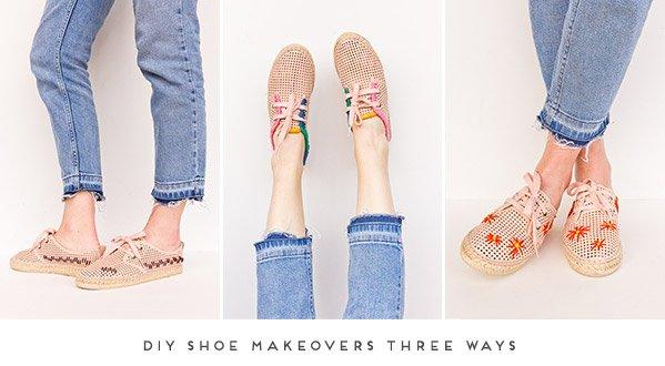 3 DIY Shoe Makeovers for Spring #shoemakeover #diyshoes #diy #fashion #springfashion