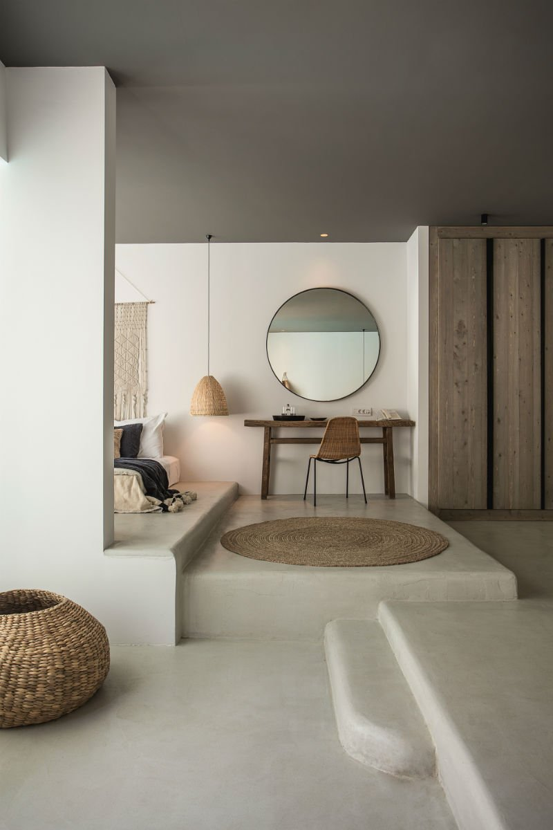 Check out the gray painted ceilings at the Casa Cook Rhodes Hotel in Greece. Are you a fan of the painted ceiling trend? Join the debate! #ceilings #paintedceilings #trend #interiors