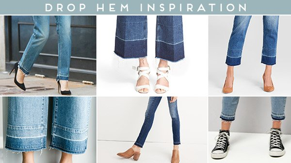 Drop hem inspiration for DIY idea