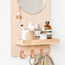A Modern DIY Bathroom Organizer (with Mirror)