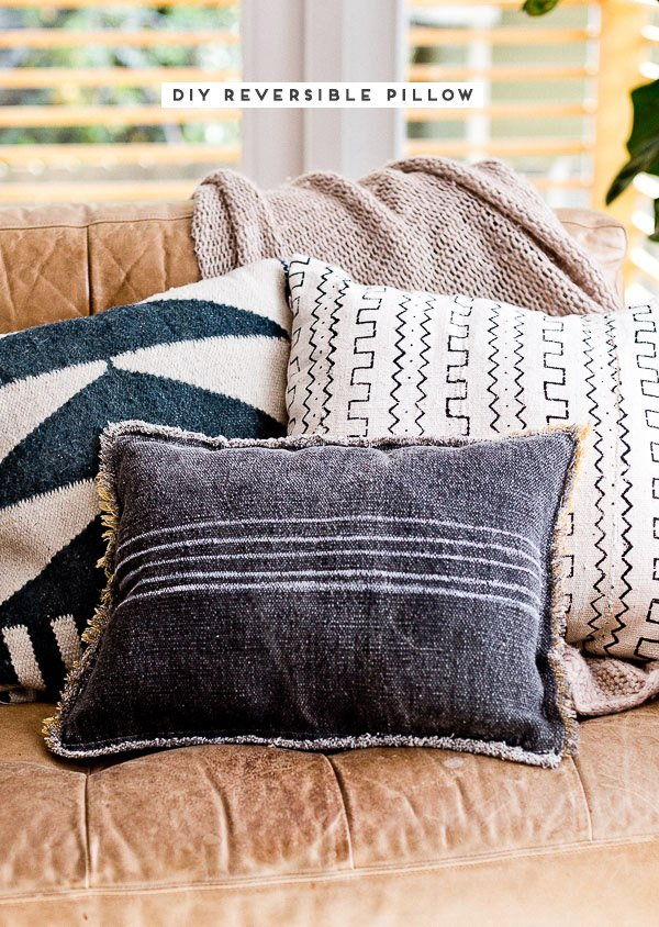DIY reversible pillow idea. Click through for the tutorial. #diypillow #sewingproject #diyhome