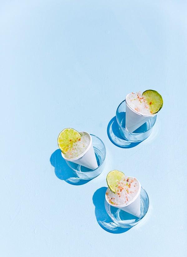 Margarita Snow Cones for Cinco de Mayo! #snowcones #margaritarecipe #uniquecocktails