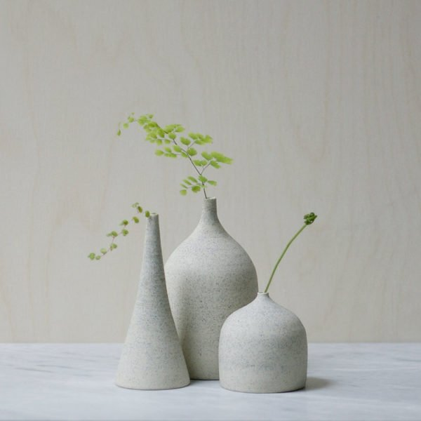 Ghost Wares stoneware vases. Get down (under) with 18 Inpsiring Australian Designers and Artists #australiandesign #australia #designinspiration #stoneware #vase