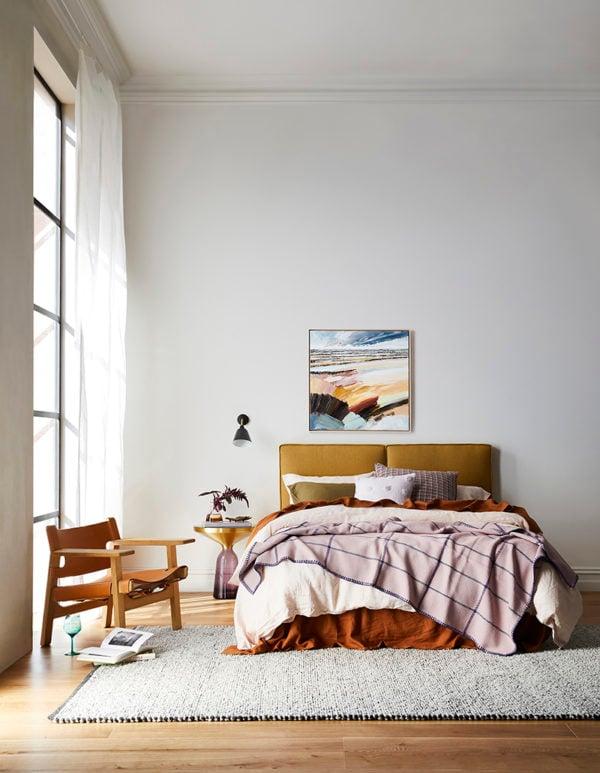 Heatherly Design headboard bedromo design. Get down (under) with 18 Inpsiring Australian Designers and Artists #australiandesign #australia #designinspiration #bedroom