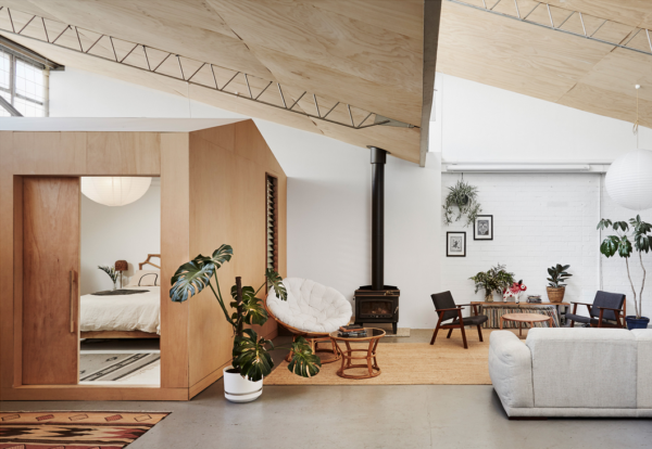 Loft space design by By Pono featured on the Design Files. Get down (under) with 18 Inpsiring Australian Designers and Artists #australiandesign #australia #designinspiration #bedroom #loft