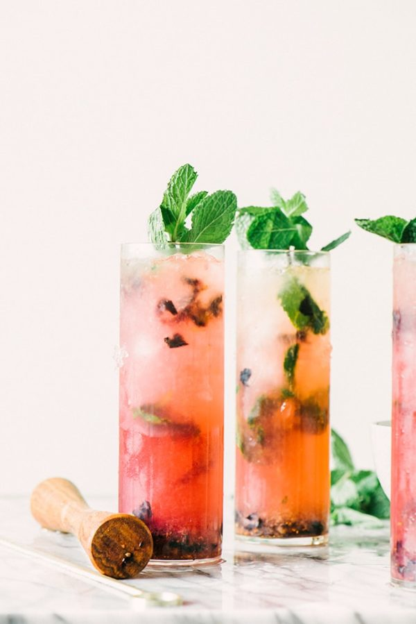 Blueberry Mint Julep from Our Salty Kitchen. Check out 42 of the Best Summer Recipes to Get you Ready for July Fourth.