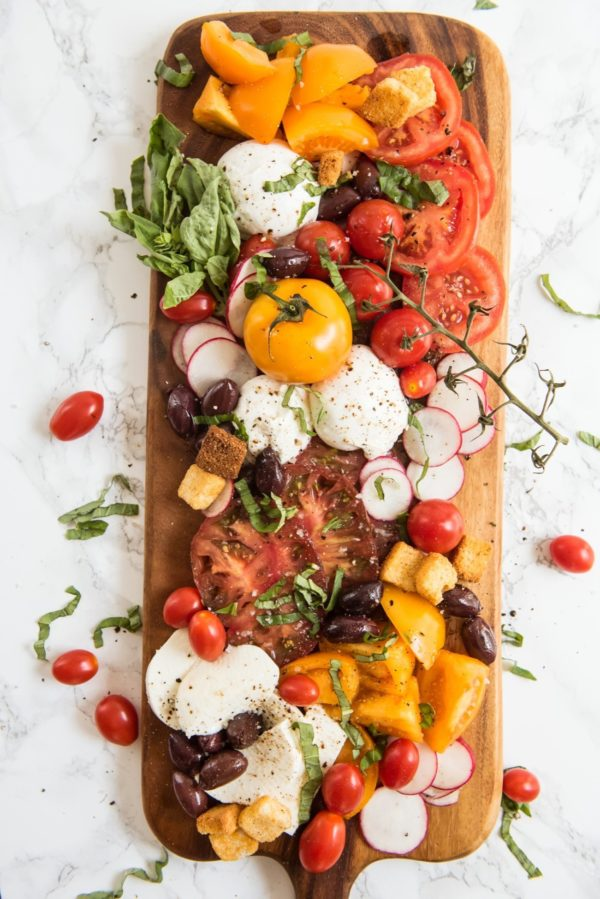 Summer Caprese Salad Board. Check out 42 of the Best Summer Recipes to Get you Ready for July Fourth.