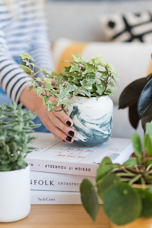 DIY Planter Ideas for Summer: Convert a candle container into a planter when you've used up the last of it, with this easy planter hack.
